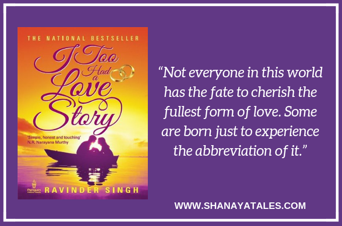 I Too Had a Love Story by Ravinder Singh | Book Review