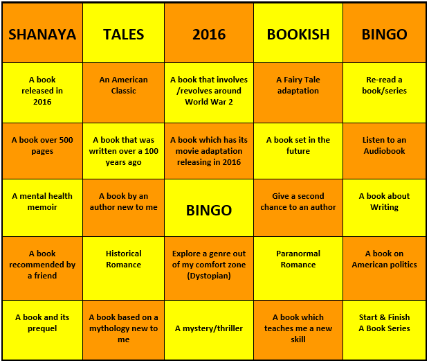 The Books I Picked for Bookish Bingo
