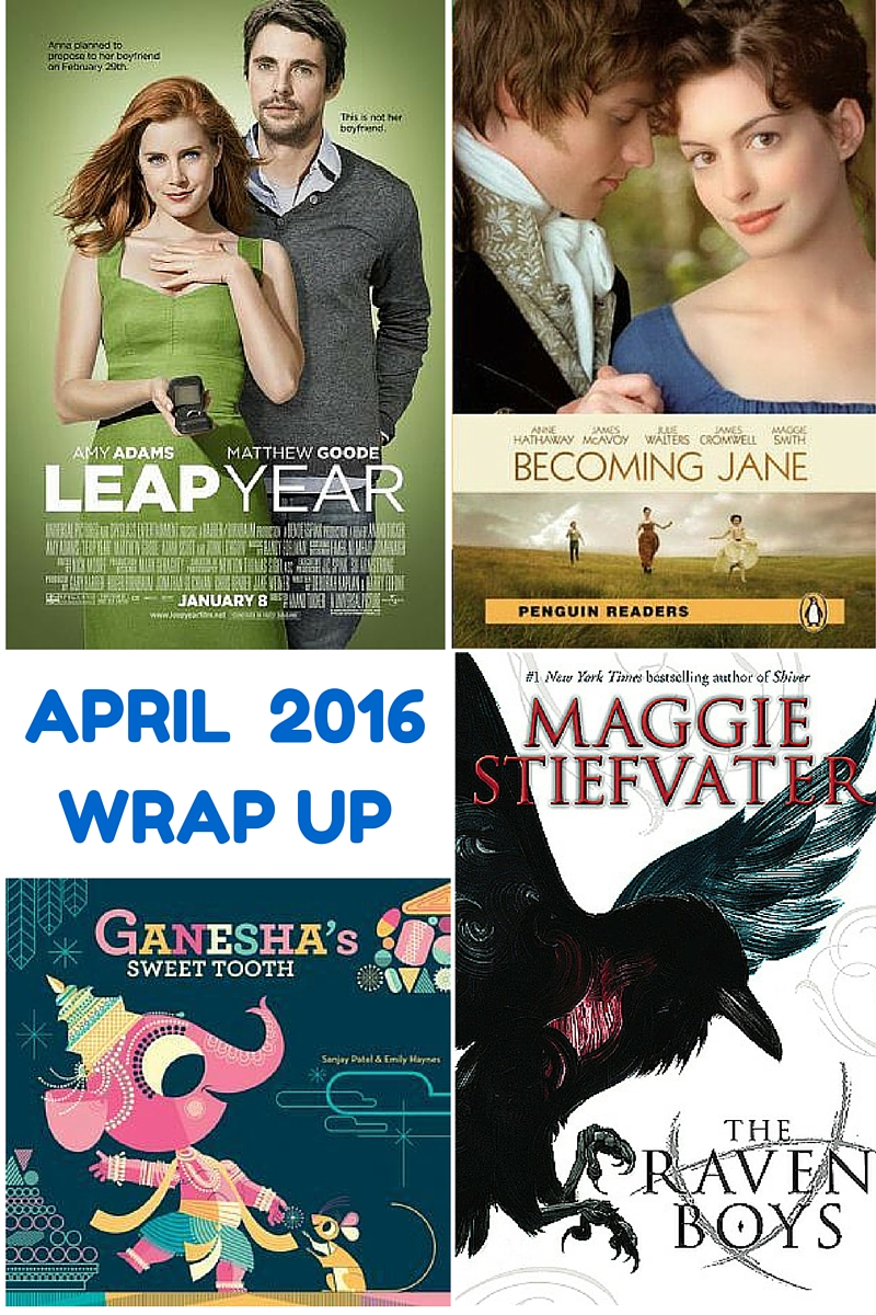 April Wrap Up – Books and Movies (New Series)