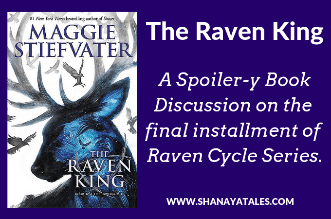 raven king book cover with text