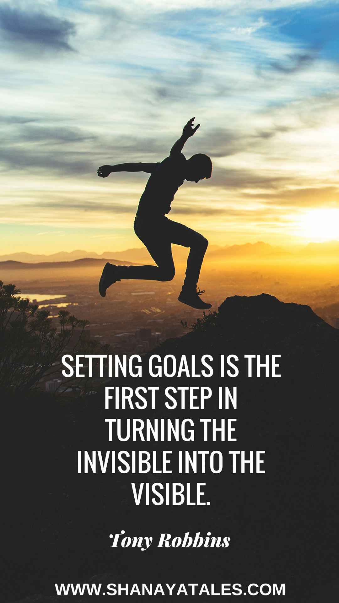 goal setting quote - setting goals is the first step in turning the invisible into the visible