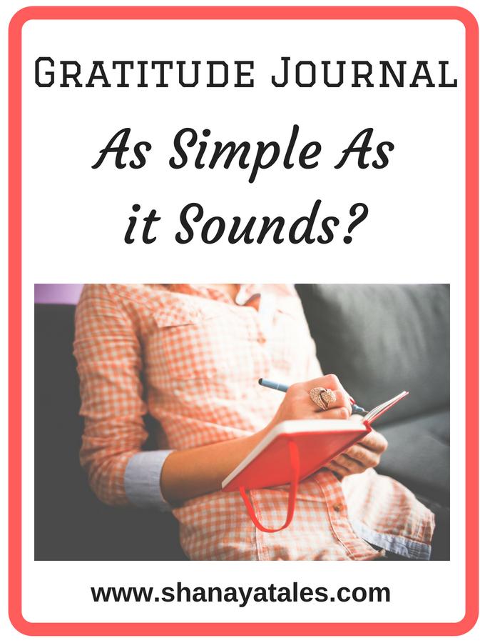 Gratitude Journal - As Simple As It Sounds?