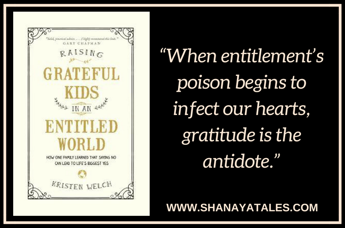 raising grateful kids in an entitled world image quote